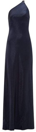 Roxy One Shoulder Satin Dress - Womens - Navy