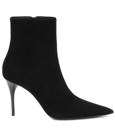Suede Ankle Black Boots