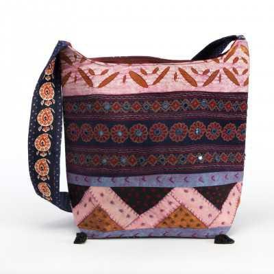 Yantra Handmade Embroidered Handbag | Bohemian Cross body Bag - Mystic Self LLC
