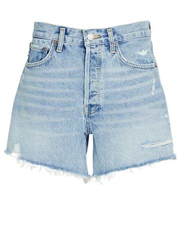 AGOLDE Parker Long Denim Shorts | INTERMIX®