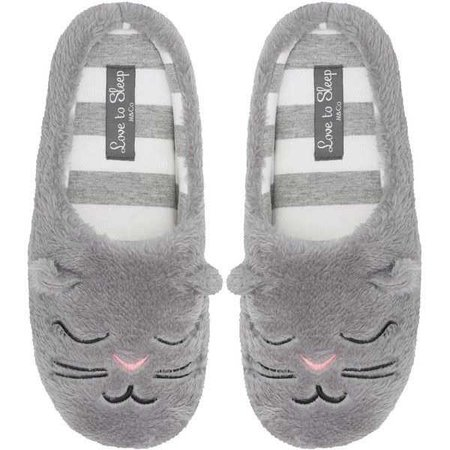 M&Co Cat Fleece Mule Slippers ($11)