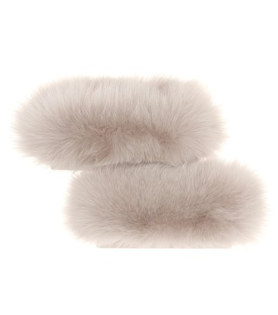 Susanna fox fur cuffs