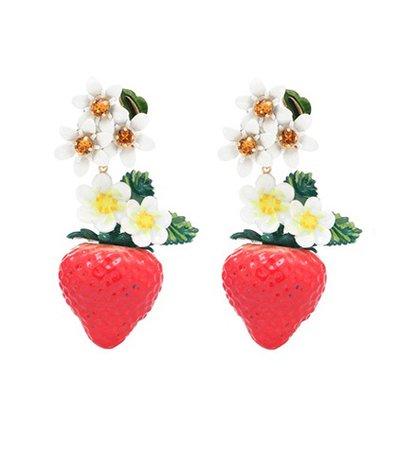Crystal-embellished resin earrings