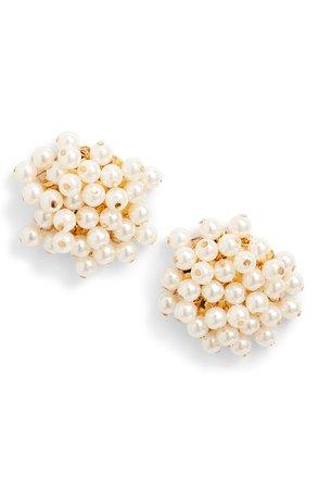 Lele Sadoughi Imitation Pearl Cluster Earrings | Nordstrom