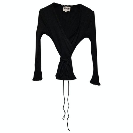 Fall winter 2019 top Rouje Black size 38 FR in Synthetic - 12826974