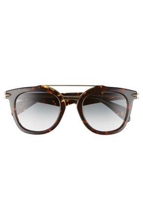 rag & bone 50mm Round Aviator Sunglasses | Nordstrom