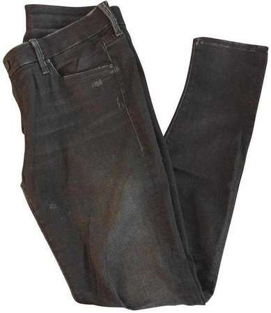 Mother Black Distressed The Looker Skinny Jeans Size 30 (6, M) - Tradesy
