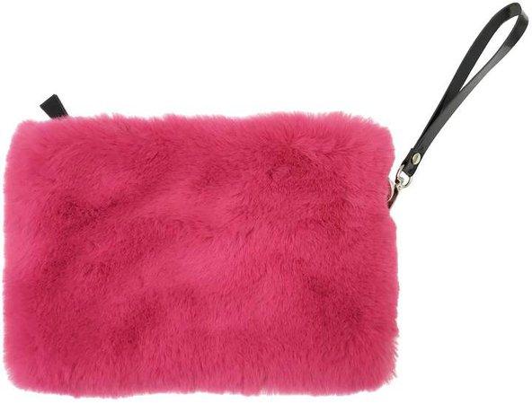 NOOKI DESIGN - Faux Fur Clutch Fuscia