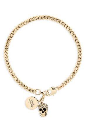 Alexander McQueen Skull Charm Bracelet | Nordstrom