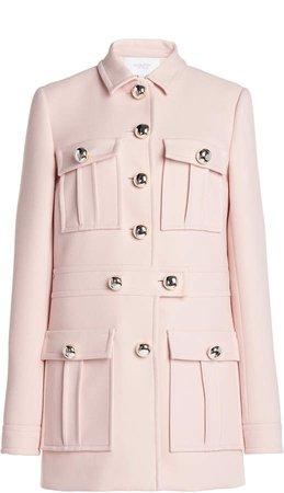 Giambattista Valli Double-Breasted Cady Pocketed Coat