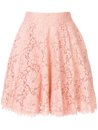 DOLCE & GABBANA full scalloped lace skirt