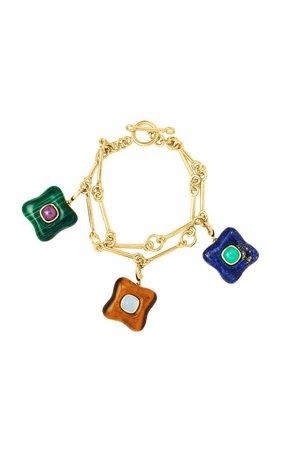 Signature Chain Charm 18K Yellow Gold Bracelet by Rush Jewelry Design | Moda Operandi