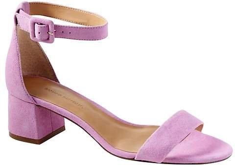 Bare Low Block-Heel Sandal