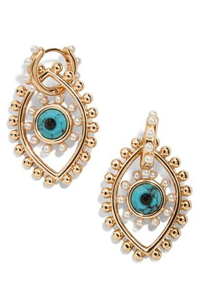 BaubleBar Panon Evil Eye Drop Earrings | Nordstrom
