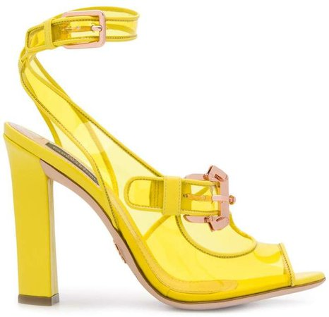 buckle detail heeled sandals