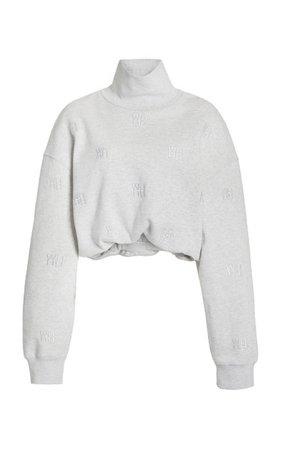 Embroidered Cotton-Knit Turtleneck Sweater By Alexander Wang | Moda Operandi