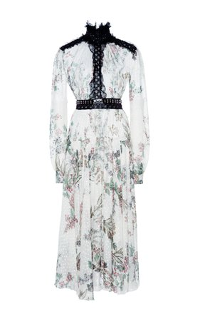 Long Sleeve Floral Print Dress BY Giambattista Valli