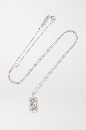 White gold 18-karat white gold diamond necklace | Suzanne Kalan | NET-A-PORTER