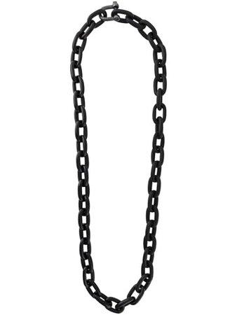 Black Parts Of Four Charm Chain Necklace | Farfetch.com