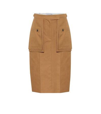 Max Mara - Bosso cotton midi skirt | Mytheresa
