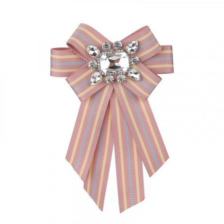 Tie Bow Brooch mulitcolored and pink