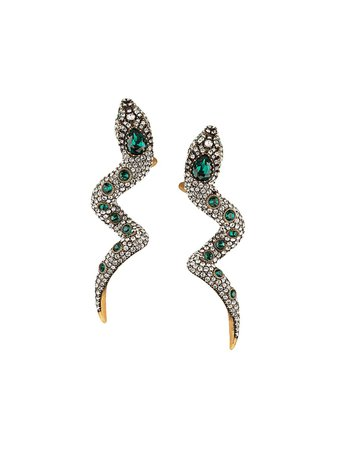Gucci Snake Earrings With Crystals - Farfetch