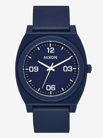 Nixon Time Teller P Corp Matte Navy White Watch