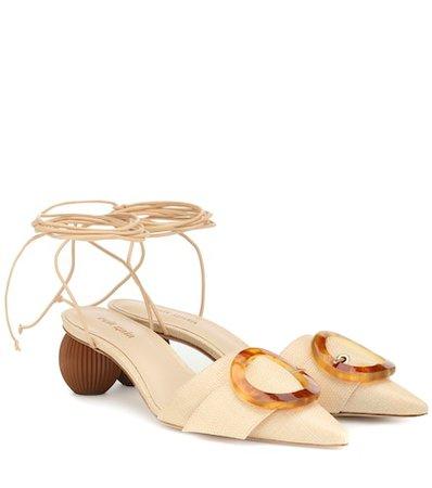 Liya embellished raffia sandals