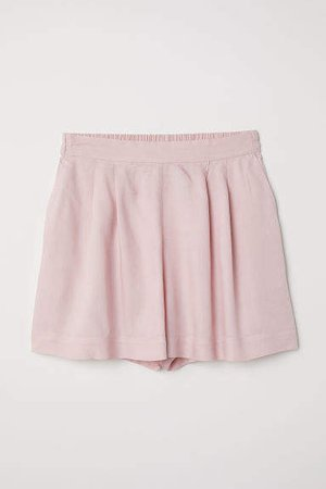 Wide-cut Shorts - Pink