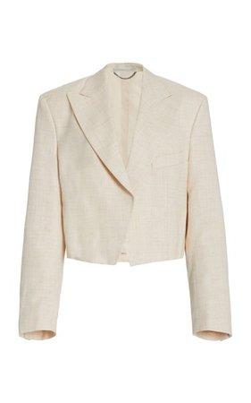 Adley Melange Twill Blazer By Stella Mccartney   Moda Operandi