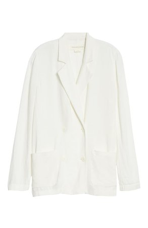 Treasure & Bond Double Breasted Blazer white