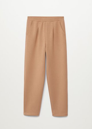 Straight knitted trousers - Woman | Mango Canada