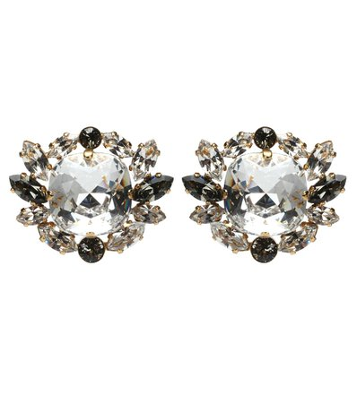 Crystal Clip-On Earrings - Dolce & Gabbana | mytheresa.com