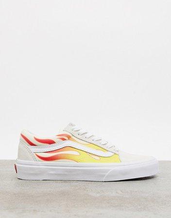 Vans Flame Old Skool sneakers in white | ASOS