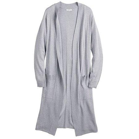 Women's Nine West Long Sleeve Open Cardigan