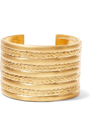 Kenneth Jay Lane | Gold-tone cuff | NET-A-PORTER.COM