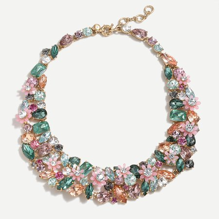 J.Crew: Botanical Cluster Statement Necklace For Women