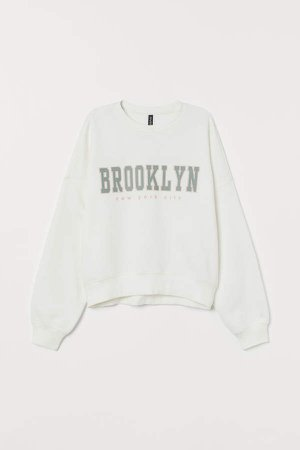 Printed Sweatshirt - White