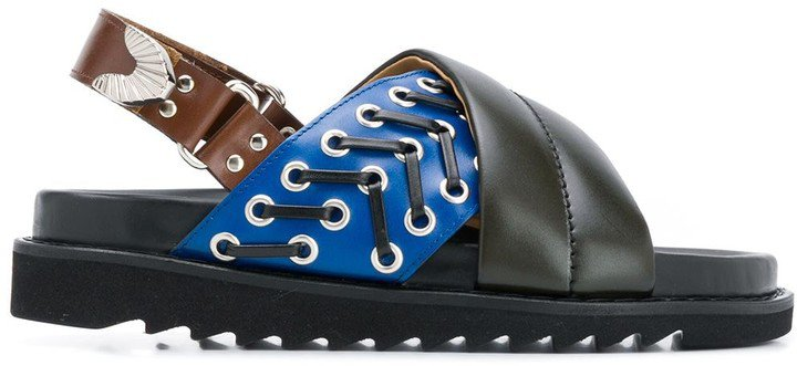 Crossover Strap Slingback Sandals