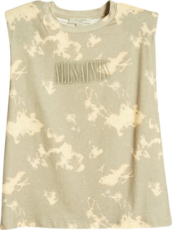 Coni Tie Dye Shoulder Pad Cotton Muscle Tank Top