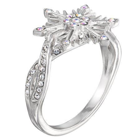 silver crystal snowflake ring - Google Search
