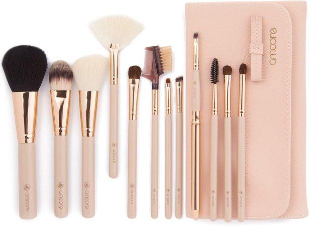 Make up Brushes, amoore 12 Pcs Makeup Brushes Set Make up Brush with Case Foundation Brush Powder Brush Concealer Brush Eyeshadow Brush: Amazon.co.uk: Beauty