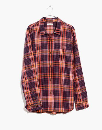 Flannel Classic Ex-Boyfriend Shirt in Edith Plaid