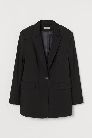 Single-breasted Blazer - Black