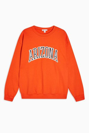 Orange Arizona Sweatshirt | Topshop