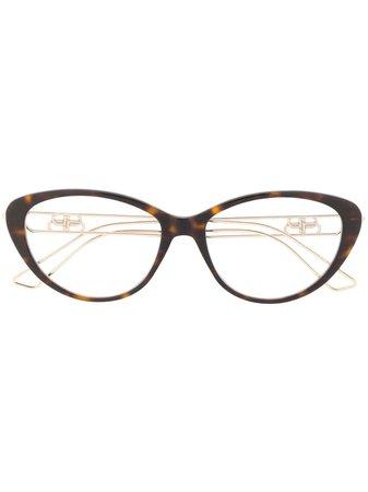 Balenciaga Eyewear Tortoiseshell Cat Eye Glasses - Farfetch