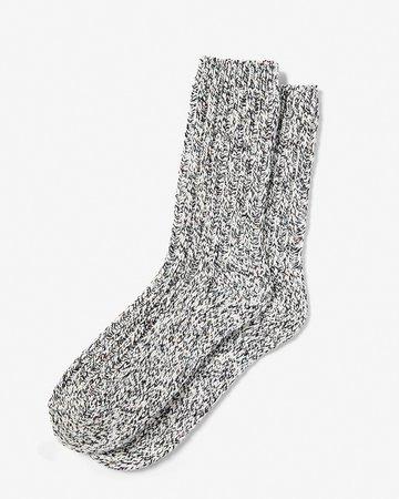 Marled Ribbed Boot Socks | Express