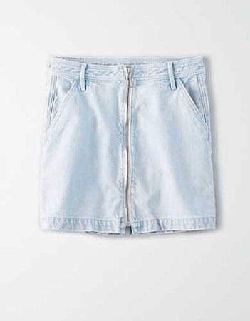 AE Super High-Waisted Festival Denim Mini Skirt blue