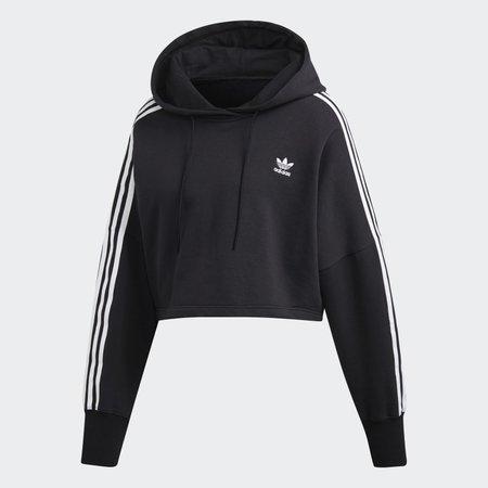 adidas Cropped Hoodie - Black | adidas US