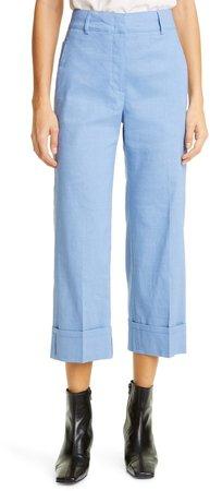 Stretch Linen Blend Pants